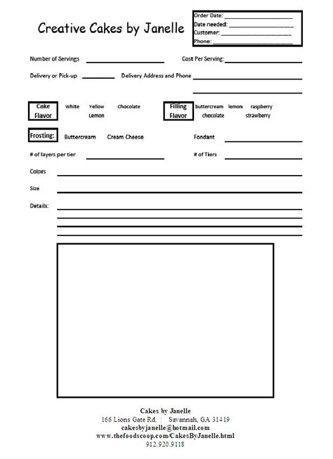 sle cake order form template 28 best purchase order images on invoice