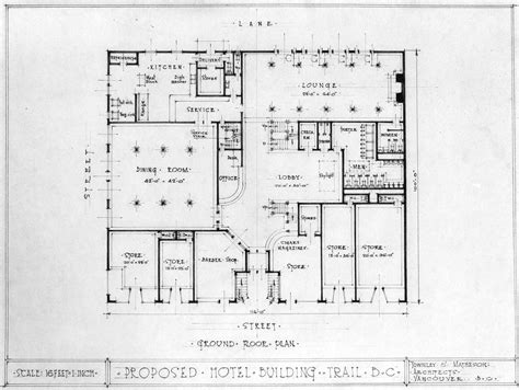 proposed hotel building trail b c ground floor plan