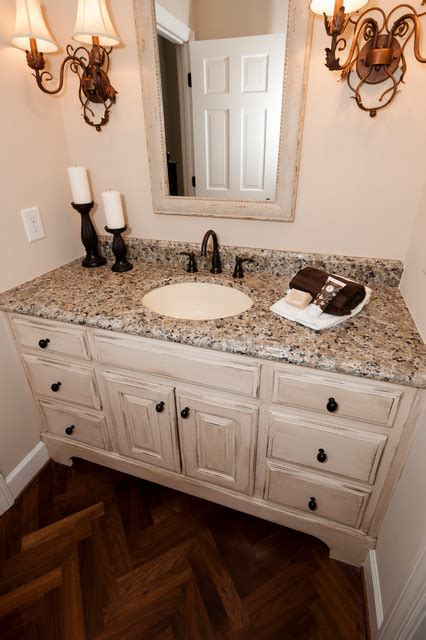 powder room vanity units antiqued vanity cabinet traditional powder room other by level team contracting