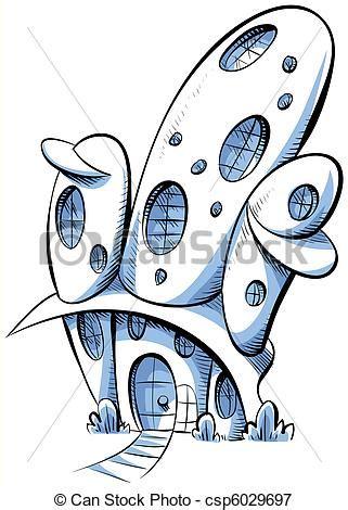 dessin bateau du futur stock illustrations of future house a cartoon futuristic