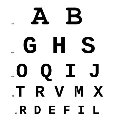 vision test sle eye chart template 11 free documents in pdf