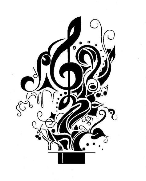simple designed black ink music images designs