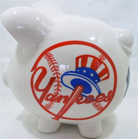 mlb bank baseball theme piggy bank yankees nanycrafts