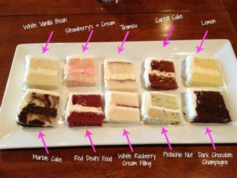 a selection of wedding cake flavors you may enjoy which do you prefer dreamday cake ideas