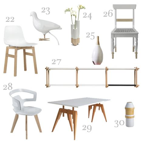 Furniture And Accessories White And Wood Furniture Accessories 3 Stylecarrot
