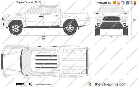 toyota tacoma bed size the blueprints com vector drawing toyota tacoma