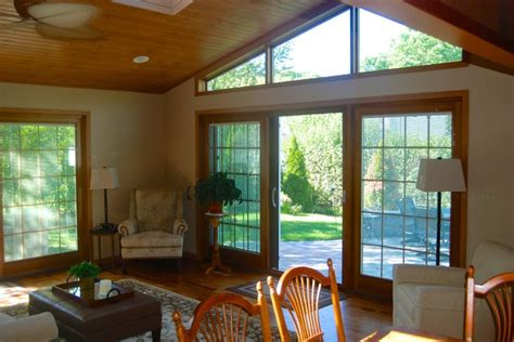 vaulted ceiling windows vaulted beaded ceiling with trapezoid windows