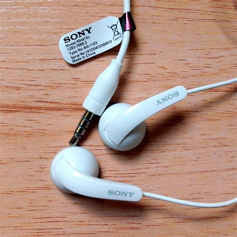 Terbaik Headset Earphone Sony Mh 410 C Original original sony stereo headset mh410c earphone for xperia z1 z2 z3 white