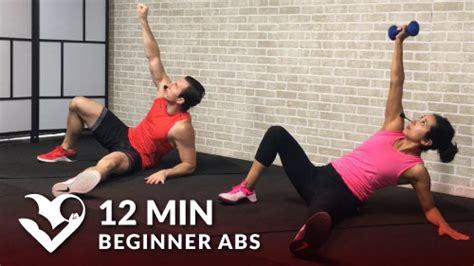 min beginner ab workout hasfit  full length