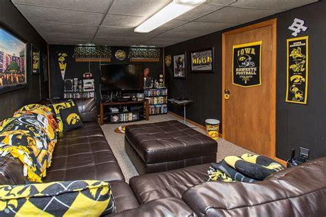 iowa hawkeye man cave moved    house