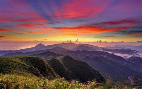 hd landscapes mountains fog sky background  wallpaper