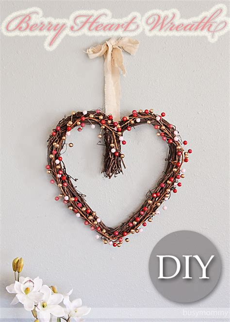 diy valentines wreath diy berry wreath for s day shelterness