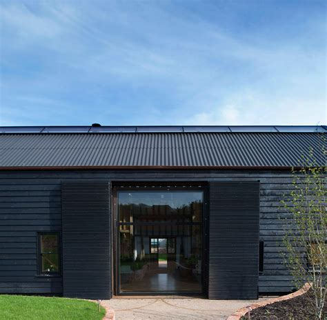 barn converted to the contemporary house with a pool derelict barn conversion into modern home modern house