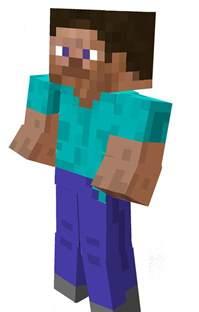 Steve Template Minecraft by Papercraft Bendable Steve