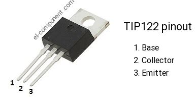 equivalent transistor for tip122 tip122 n p n transistor complementary pnp replacement pinout pin configuration substitute