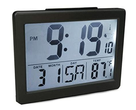alarm clock bedroom atomic desk bedroom alarm clock black 1 5 quot time number