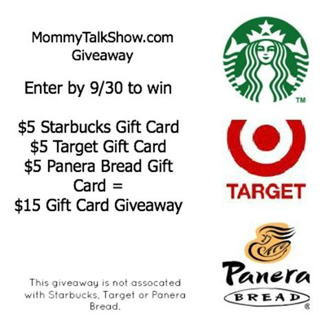 My Panera Gift Card - 15 gift card giveaway for target starbucks panera