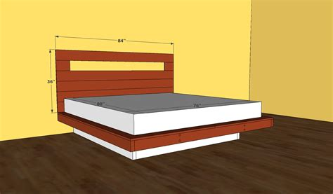 floating bed plans king bed frame plans bed plans diy blueprints