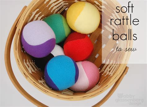 pattern for sewing a ball soft rattle balls to sew free tutorial whileshenaps com