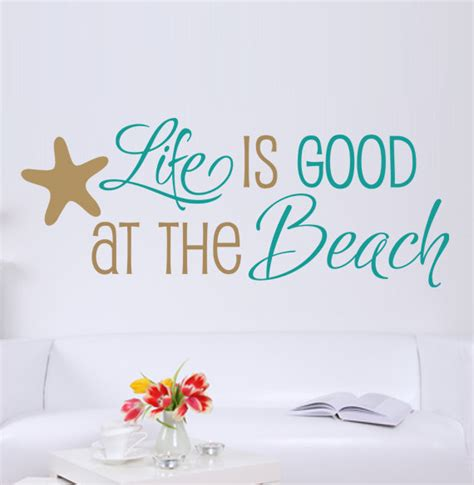 beach themed quotes items similar to life is good at the beach quote vinyl