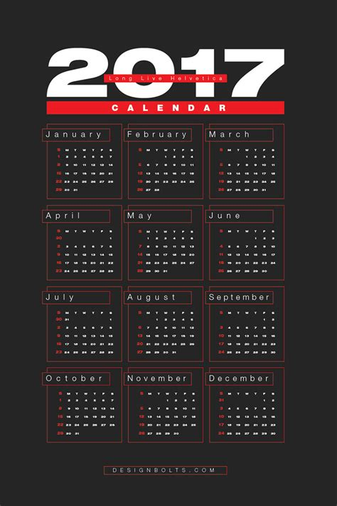 Calendar Design Templates Free Free 2017 Wall Calendar Printable Design Template In Ai