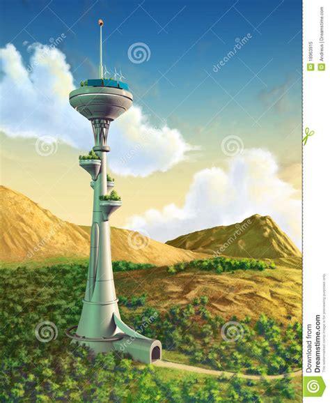 futuristic cloud city skyscraper could bring the dream of futuristic tower royalty free stock photo image 18963915