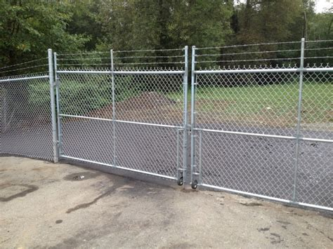 how to build a double swing gate chain link gates qs fencing ltd