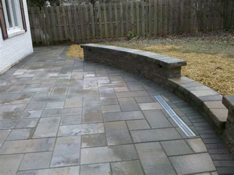 Pavers Or Concrete Patio Patio Concrete Paver Patio Home Interior Design