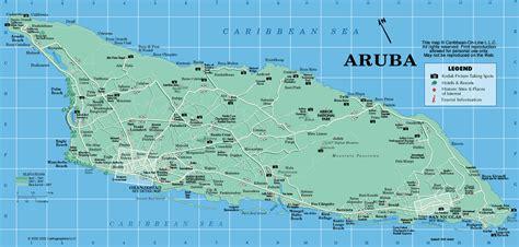 caribbean map aruba aruba map from caribbean on line