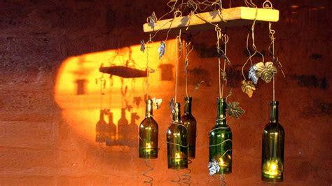 imagenes navidad y vino sostenedor de vela hecho con botellas de vino recicladas