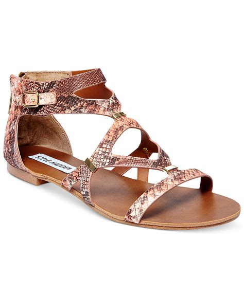 Flast Shoes Sandal Wanita Mg30 lyst steve madden comly flat sandals in pink