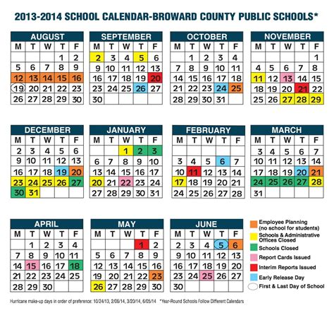 Broward School Calendar Coral Springs Florida Schools