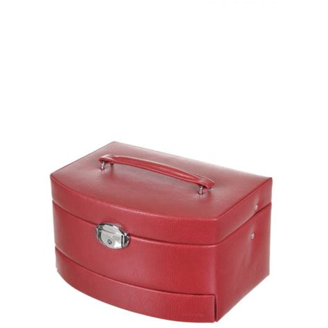 Faux Leather Jewelry Case   travel case