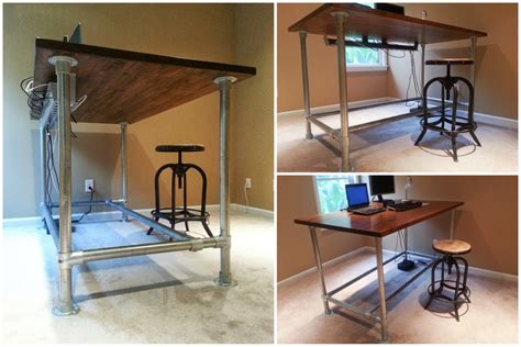 how to standing desk diy standing desk