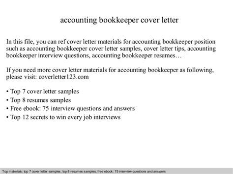 Email Cover Letter For Bookkeeper Accounting Bookkeeper Cover Letter