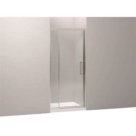 Framed Pivot Shower Door Kohler Lattis 36 In X 76 In Heavy Framed Pivot Shower Door In Anodized Brushed Bronze K 705816