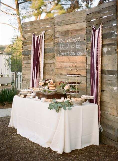cake table backdrop how to create a rustic wedding dessert table