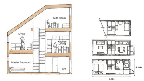 Long Narrow Apartment Floor Plans muji s latest home designed for narrow urban spaces