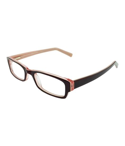myew eyewear brown non metal rectangle shape eyeglasses