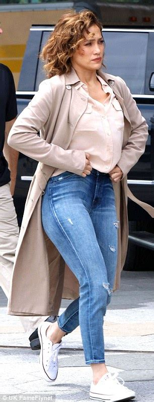 Jlo Ready For Up by Looks Stunning In Silk Blouse While Filming