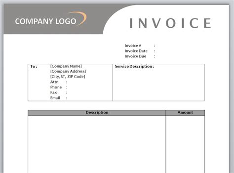 Service Receipt Template Microsoft Word by Service Invoice Template Free Microsoft Word Templates