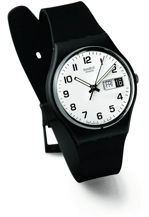 Swatch Original Gp146 montre once again gb743 swatch noir montres and co