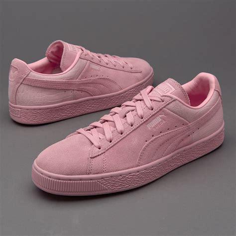 Sepatu Sneakers sepatu sneakers womens suede classic emboss lilac snow