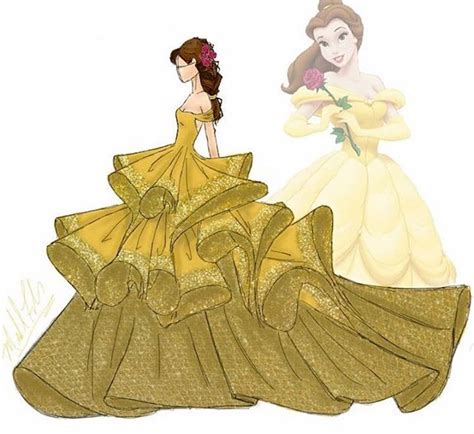 Gorgeous Fashion Illustrations by Couture Disney Princesses Gives Characters High Fashion