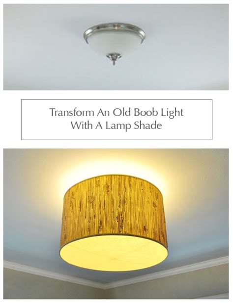 Making A Ceiling Light With A Diffuser From A Lamp Shade Young House Love