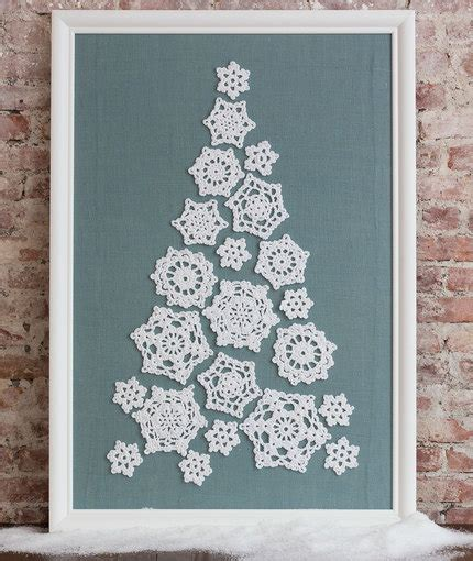 crochet patterns galore tree of snowflakes