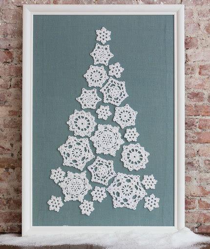 christmas tree snowflake patterns crochet patterns galore tree of snowflakes