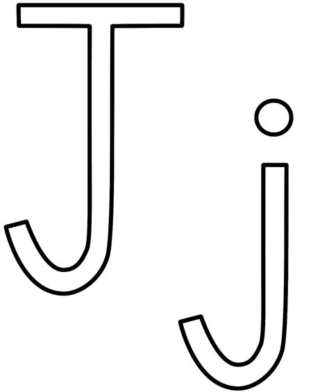coloring pages letter j letter j coloring page alphabet