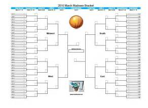 blank march madness bracket template printable 2016 march madness bracket