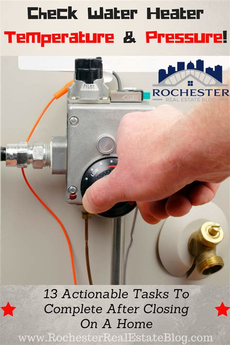 Cek Water Heater top 13 tasks to complete after closing on a home